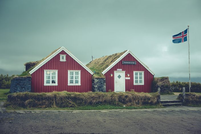 Red Houses in Iceland