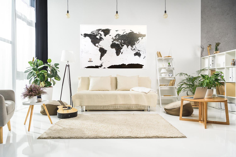 Pinnwand einer Weltkarte